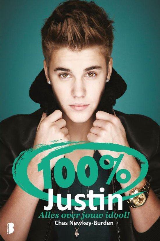 Cover van het boek '100% Justin' van Chas Newkey-Burden