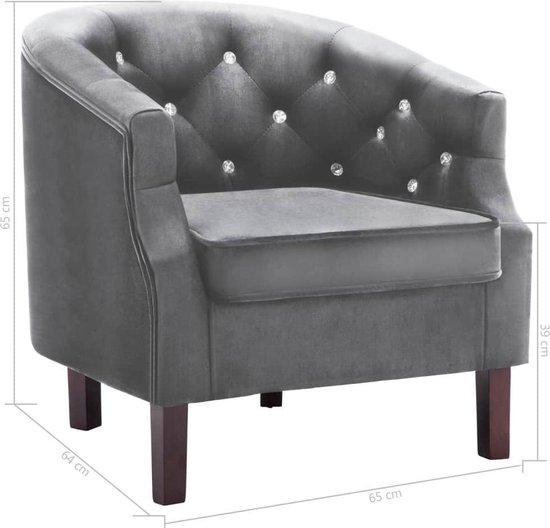 Luxe Lounge Stoel.Bol Com Luxe Fauteuil Velvet Antraciet Loungestoel Lounge