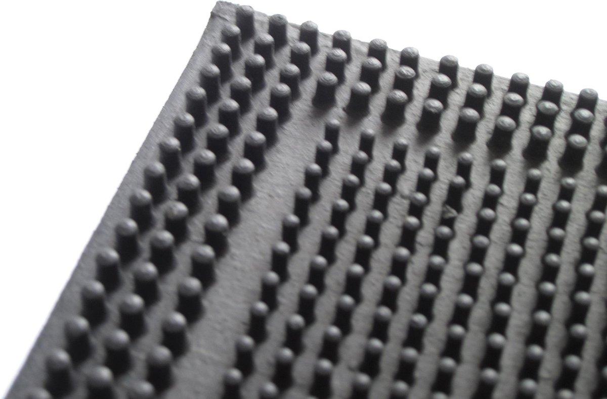 Deurmat Rubber - 60x40 Cm - Zwart - No Label