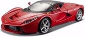 Afbeelding van Modelauto Ferrari Laferrari rood 1:24 - auto schaalmodel / miniatuur autos