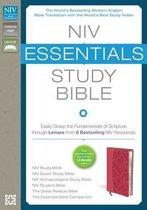 NIV, Essentials Study Bible, Leathersoft, Pink