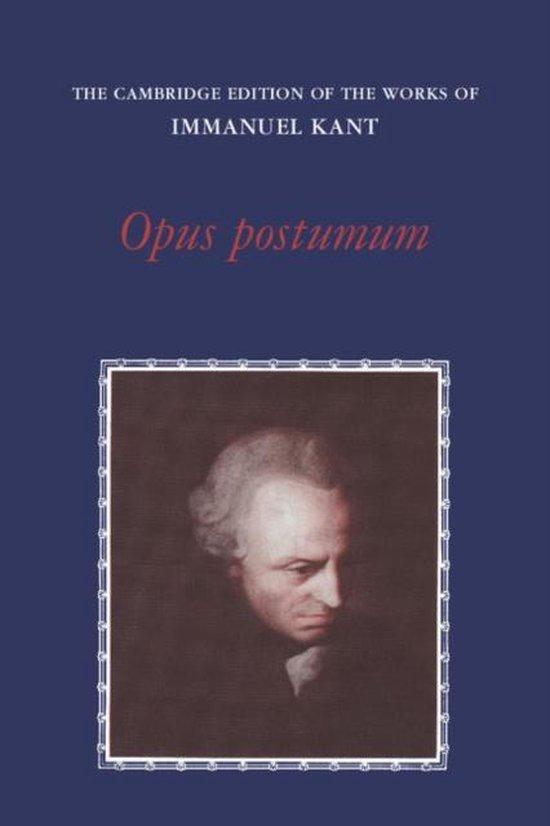 Boek cover Opus Postumum van Immanuel Kant (Paperback)