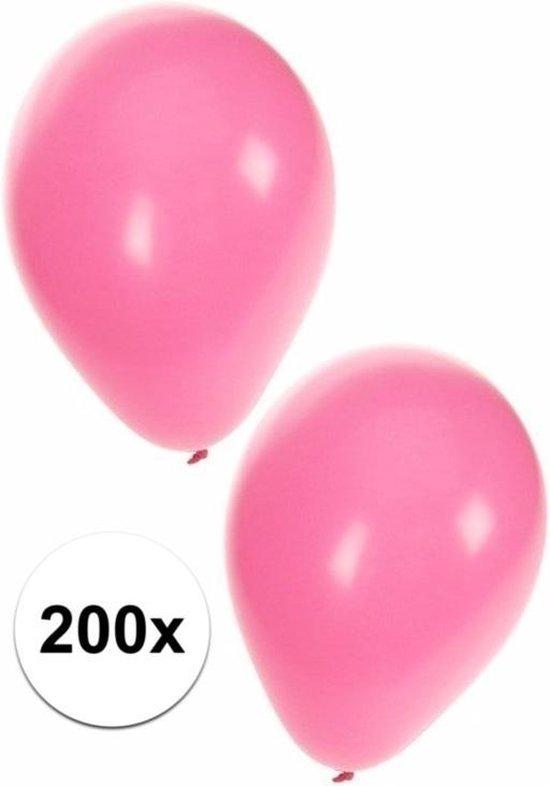 Lichtroze ballonnen 200 stuks