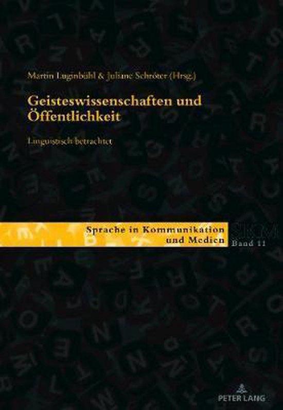 Geisteswissenschaften Und OEffentlichkeit - Linguistisch Betrachtet