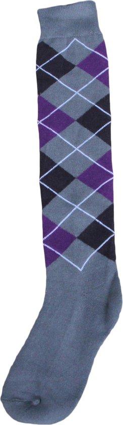 Kniekous RE grijs/zwart/paars     35-38