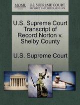 U.S. Supreme Court Transcript of Record Norton V. Shelby County