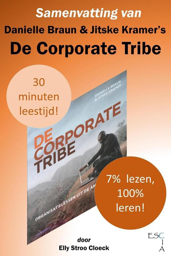 Boek cover Samenvatting van Danielle Braun & Jitske Kramers De Corporate Tribe van Elly Stroo Cloeck (Onbekend)