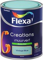 Flexa Creations - Muurverf Extra Mat - Vintage Blue - 1 liter