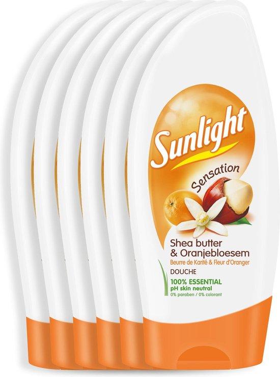 Sunlight Shea butter & Oranje Bloessem - 6 x 250 ml - Douchegel