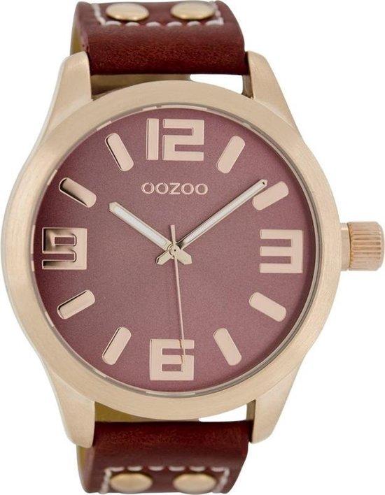 OOZOO Timepieces horloge Rood C1155 (46 mm)