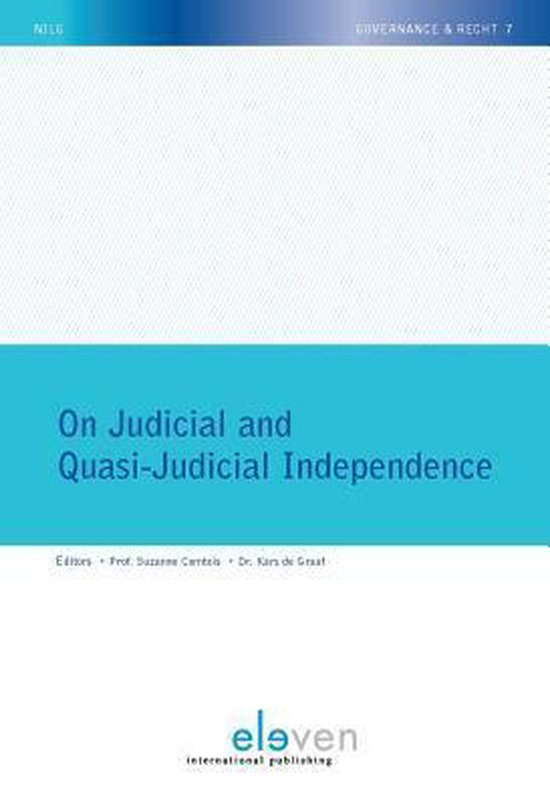 Boek cover On judicial and quasi-judicial independence van  (Paperback)
