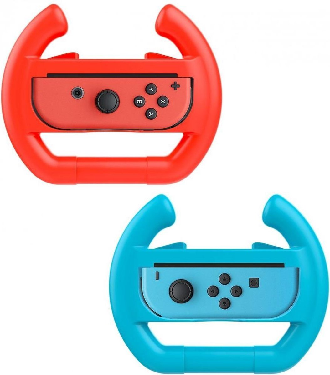 Nintendo Switch Stuur Controller Hoesje - Rood en Blauw