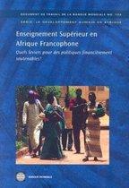 Enseignement Superieur en Afrique Francophone