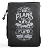 Bible Cover - Polyester - I Know the Plans - Black - Medium