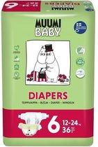 Eco Muumi Baby luiers maat 6 - 12-24 kg - 36 stuks - ecologisch