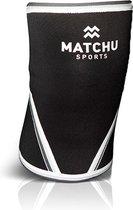 Matchu Sports - Knee Sleeve - 7mm - 1 stuk - Maat L - Zwart - Knee sleeves