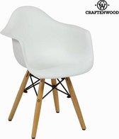 Kinderstoel in wit en beuk by Craften Wood