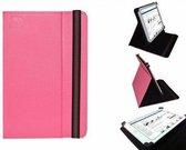 Hoes voor de Yarvik Noble 10c Tab10 400 , Multi-stand Case, Hot Pink, merk i12Cover