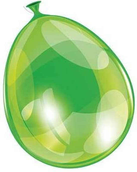Ballonnen 25cm neon groen (10 stuks)