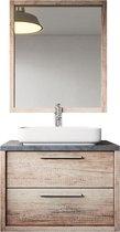Badplaats - Badkamermeubel Indiana 70cm - Hout look - Badmeubel met spiegel