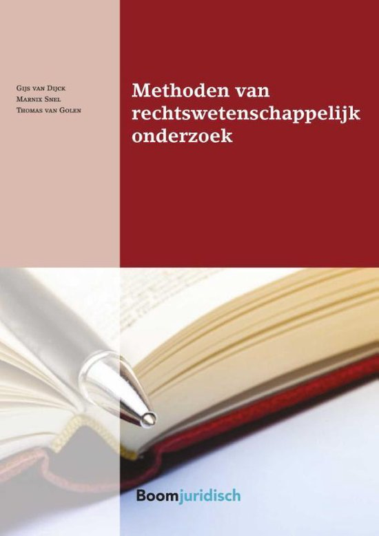 Boek cover Boom Juridische studieboeken  -   Methoden van rechtswetenschappelijk onderzoek van Gijs van Dijck (Paperback)