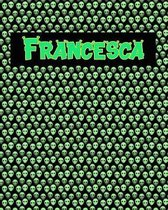 120 Page Handwriting Practice Book with Green Alien Cover Francesca