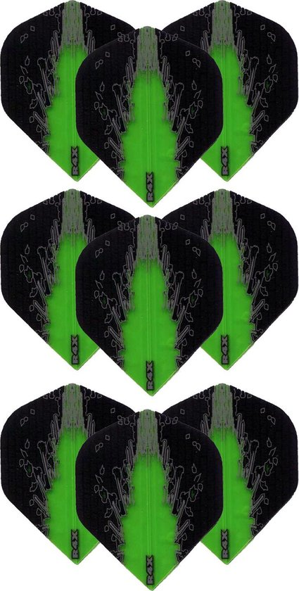 Dragon Darts – High Impact – 3 sets (9 stuks) – darts flights – Best Getest - Groen