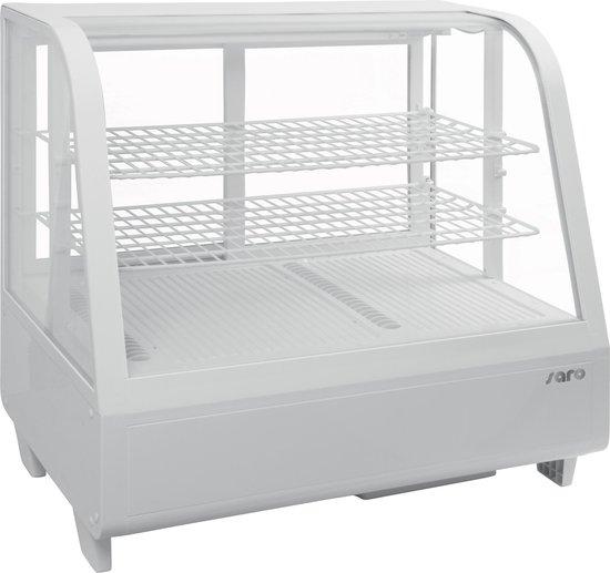 Koelkast: Saro Opzet Koelvitrine Model KATRIN Wit | 100 Liter, van het merk Saro