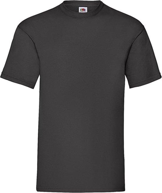 12-Pack Fruit of the Loom T-shirts - Ronde hals - Zwart - Maat L
