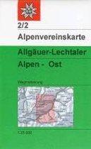 DAV Alpenvereinskarte 02/2 Allgäuer - Lechtaler Alpen Ost 1 : 25 000