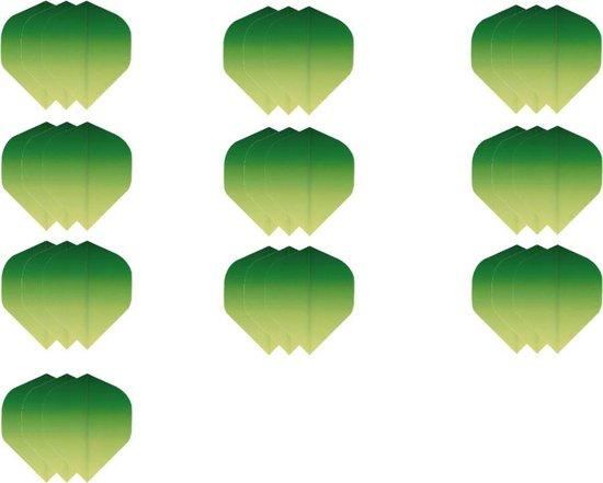 Dragon darts - Super Sterke Fade Groen Geel - flights – 10 sets - dart flights - darts flights