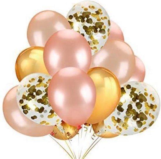 Confetti Ballonnen Set 15 Stuks Groot (32 inches) |Gouden| Baby Shower Bruiloft Verjaardag Feestje