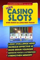 16x16 Casino Slots Word Search 150 Large Print Puzzles