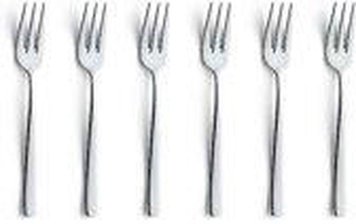 Excellent Houseware Gebaksvorkjes - 12 stuks - 12 cm - RVS