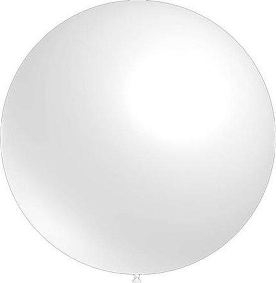 Mega grote ronde festivalballonnen wit 130 cm professionele kwaliteit