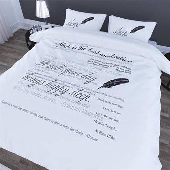 Romanette Gedicht dekbedovertrek Wit 1-persoons (140×200/220 cm + 1 sloop)