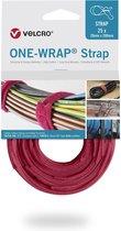 Velcro One-Wrap klittenband kabelbinders 200 x 12mm / rood (25 stuks)
