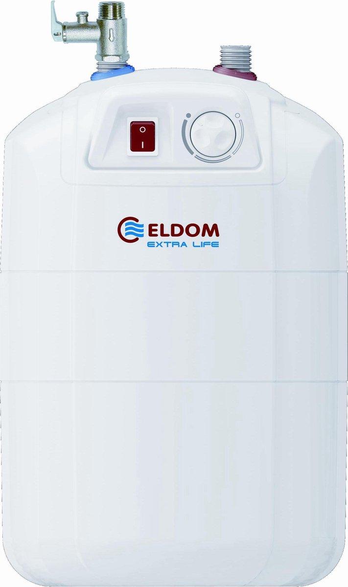 10 liter close in keukenboiler 2kw voor onder het aanrecht ELDOM Extra Life