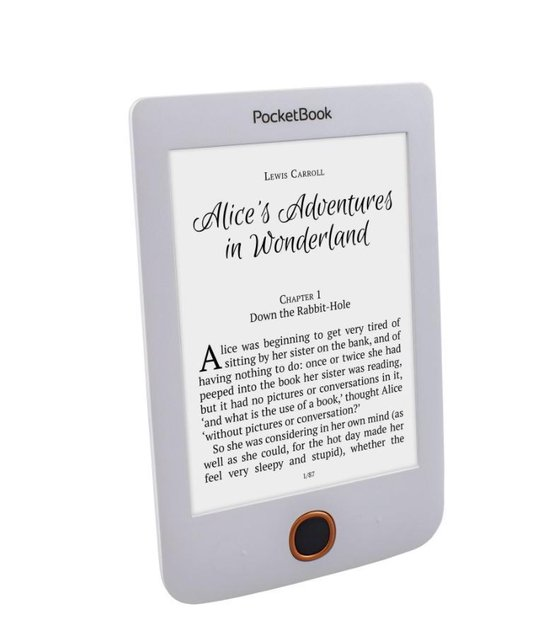 Basic 3 e-book reader 8 GB Wi-Fi Zwart, Wit