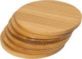 Bamboe Onderzetters Rond - Tafel onderlegger voor Glazen - Bamboo Hout - Set 8 stuks