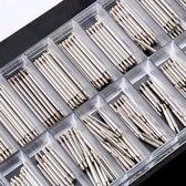 Horlogemakers Pinnetjes Set 8-25 mm 360 STUKS - Horlogeband Inkortset - 360 Delig