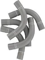 Pipelife PVC bocht 5/8 grijs zak á 25 stuks