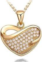 Prachtige love ketting - hart - goudkleurig