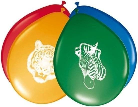 8x Safari/jungle themafeest ballonnen 27 cm