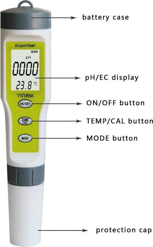 PH/EC Combo Meter - ideaal voor kwekers