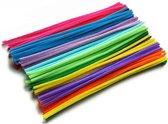 Chenilledraad Pijpenragers - Multicolor Diverse Kleuren Assorti - Chenille Draad - 100 Stuks - Buigzaam  Knutsel  Ijzerdraad -  30CM AA Commerce