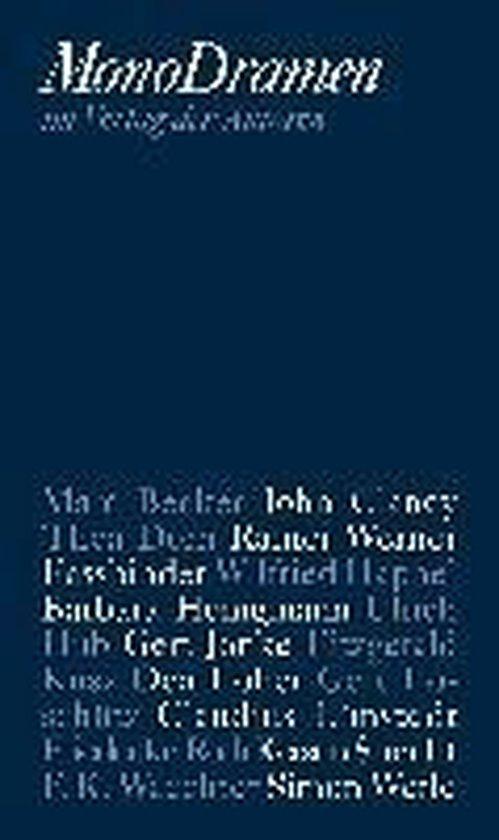 Boek cover Monodramen van Marc Becker (Paperback)
