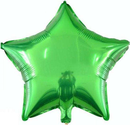 Folieballon Ster groen 45x45 cm