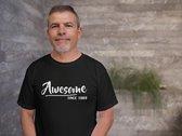 Abraham 50 jaar t-shirt / Awesome since 1970 / kado tip / Heren maat M / cadeau / Sarah