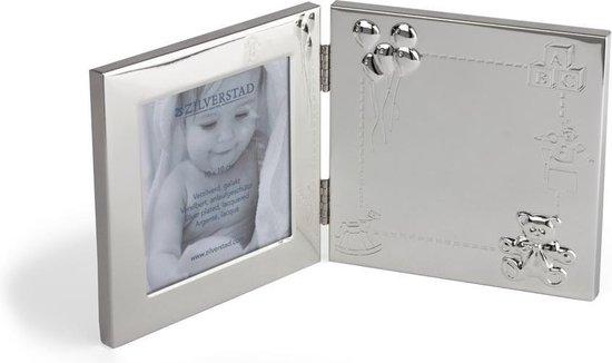 Zilverstad Fotolijst Happy Baby 9x9cm verzilverd